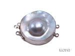 精品30mm雙環鑲銀邊瑪比珠扣