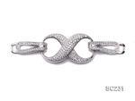 精品單環鍍18K金S925純銀鑲鋯石項鏈扣
